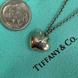 Tiffany & Co. Jewelry - Vintage Tiffany & Co.  Puff Heart Necklace